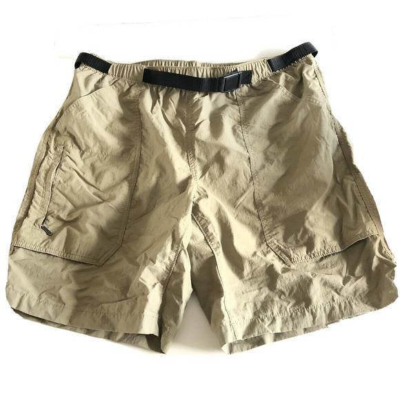 Eddie Bauer  Mens Shorts  L Khaki Nylon